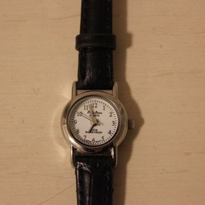American Apparel Philip Persio Black Leather Watch
